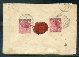 Mauritius 1891 2c on 4c surcharge invtd. & normal used on piece (2021/10/23#10)