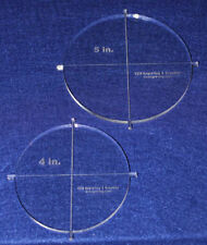 """Craft Circle Template -2 Piece Set with Tabs 4"""", 5"""" - 1/4"""" Clear Acrylic"""