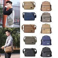 Men's Shoulder Bag Messenger Packs Multi-pocket Canvas Cross-body Sports Satchel