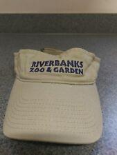 Riverbanks Zoo & Garden Visor Hat Cap Tan Adjustable Columbia, SC EUC!!!