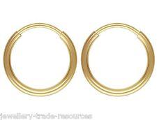 1x Pair 12mm 14ct Gold Filled Round Hoop Sleeper Earrings