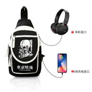 Anime Tokyo Ghoul Harajuku Black Men's women's Shoulder Bag Messenger Bag a1