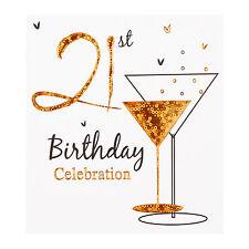 21st Birthday party invitation 6 x quality cards & envelopes