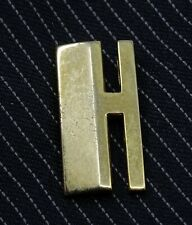 Vintage Tie Tack Pin Letter H Initial