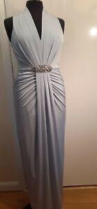 New No 1 Jenny Packham Pale Blue Evening Dress. 14.
