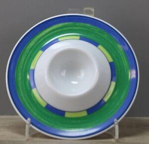Winterling Dessina grün/blau Blumen Eierbecher mit Ablage Ø ca 12,2 cm neuwertig