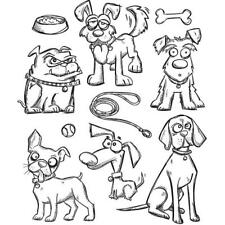 Tim Holtz Rubber Stamp Set-Crazy Dogs CMS 271