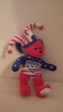 Team Bear Super Bowl Bear 2002 6648/77000 Limited Red White Blue Plush XXXVI