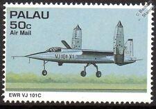 EWR VJ 101 Versuchsjäger Experimental VTOL Fighter Aircraft Stamp (1995 Palau)