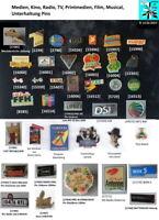 Medien, Kino, Radio, TV, Printmedien, Film, Musical, Unterhaltung Pins AUSSUCHEN