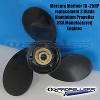 18-25HP MERCURY MARINER Propeller 3 Blade Aluminium 3 Blade Prop All Sizes