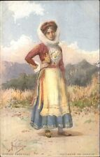 Paysanne de Corfou Greece Native Woman Costume c1910 Postcard
