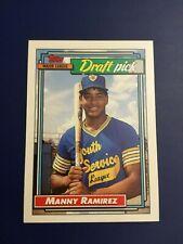 1992 Topps # 156 MANNY RAMIREZ ROOKIE RC Cleveland Indians Baseball Card HOT $$