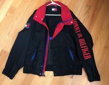Rare Vintage 90's Tommy Hilfiger Men's Big Logo Red Spellout Zip Jacket Vented