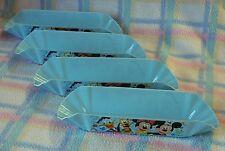 New Disney Mickey & Friends Hot dog Tray 4-pc Set