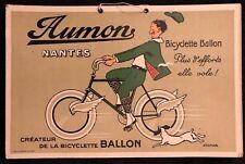 JACMAR AUMON BICYCLETTE BALLON CARTON PUBLICITAIRE