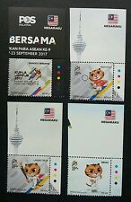 Malaysia 29th SEA Games 9th Para Asean 2017 Tiger Sport Kites (stamp color) MNH