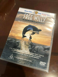 New Sealed Warner Bros Family Entertainment Free Willy movie DVD