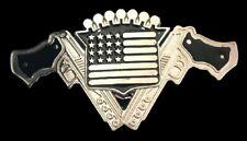 Guns Gun USA Flag Revolver Western Men's Belt Buckle Buckles