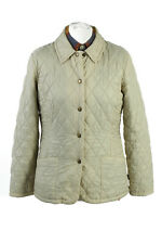 Vintage Barbour Quilted Womens Coat Jacket Lightweight Size 10 Cream - C1864