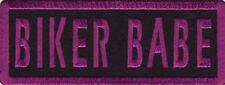 BIKER BABE Fun Embroidered Motorcycle Lady Chick MC Biker Vest Patch PAT-0233