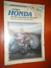 1980-1981 HONDA ATC185 & 200 SINGLES SERIES CLYMER REPAIR SERVICE MANUAL NOS