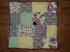 POTTERY BARN TEEN Abby Floral Geometric Block Euro Sham purple black green aqua