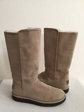 UGG CLASSIC LUXE ABREE II TALL STONE WATER RESISTANT Boot US 6 / EU 37 / UK 4.5
