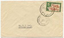 FIJI to PITCAIRN ISLAND 1952 SINGLE FRANKING 2 1/2d