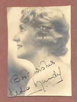 Hilda Mundy   English comedy actress,    Signed photo-card  c 1940s       RK975