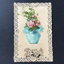 CPA Canivet Chromo Bonne Fête Bouquet Carte Ancienne Antique Post Card
