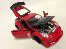 "2003 Nissan 350Z JDM TUNERS, 8"" METALS Die Cast 1:24 Scale, Jada Toys Red"
