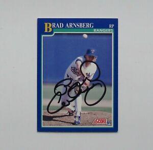Brad Arnsberg Score Signed Trading Card