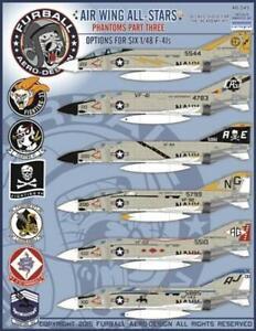 Furball Aero Design 1/48 Decals Phantom F-4J Air Wing All Stars Pt 3 - 48045