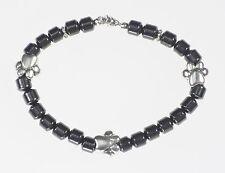 Dog Paw Hematite Beaded Bracelet