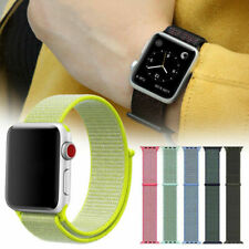 For Apple Watch Series Nylon Strap 4 3 2 1 38/42/40/44mm Sport Loop Band UK Fast