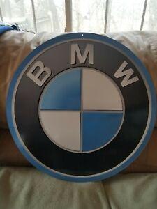 """BMW Large 22"""" Round Metal Beamer Sign"""