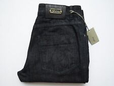 $1250 BRIONI Dark Wash Cashmere Blend with Alligator Leather Jeans 34 US 50 Euro