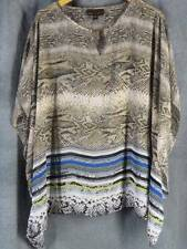 Dana Buchman XL Sheer Pretty Ruana Top Snakeskin Print