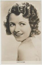 Janet Gaynor 1930s Real Photo Card Postcard - Film Weekly Series - Movie Star