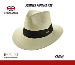 Mens Travel Panama Hat Fedora Summer Sun Hat with Many Colours-iHATS London UK