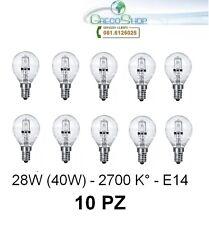 10 Lampada/Lampadina alogena a risparmio energetico 28W (40W) E14 Sfera Cilvani
