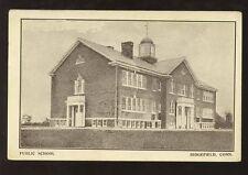 SCHOOL COLLEGE c1910-20 PPC USA...RIDGEFIELD PUBLIC SCHOOL CONNECTICUT