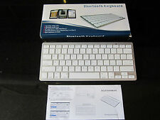 White Wireless Bluetooth Small Keyboard for Apple Ipad Air 5 Tablet I Pad Tab