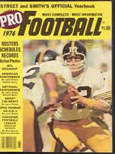 1976 PRO FOOTBALL STREET AND SMITH'S  TERRY BRADSHAW PITTSBURGH STEELERS NM