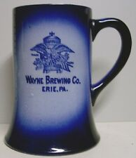 Pre-pro Wayne Brewing Co. Flow Blue Mug - Erie, PA