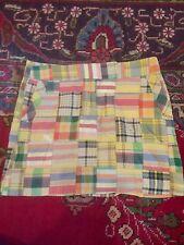 J Crew Madra Patchwork Skirt 100% Cotton Size 6 NWOT