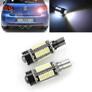 2X White LED T15 Reverse Back up Light Bulb Error Free for VW Golf Passat Jetta