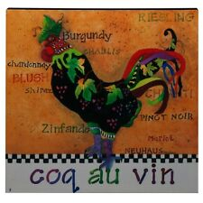 Coq Au Vin Canvas Rooster Wall Art