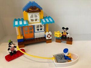 DUPLO DISNEY MICKEY & FRIENDS BEACH HOUSE SET 10827 GOOFY DONALD DUCK MOUSE